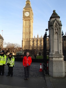 Big Ben, police, parliament. To bad parliament was in session- I would have loved to tour it.
