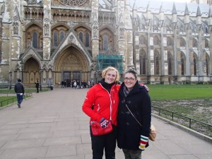 Me and my new friend Caitlin (from Montreal) We had a great day seeing Westminster abbey and just hanging out today.